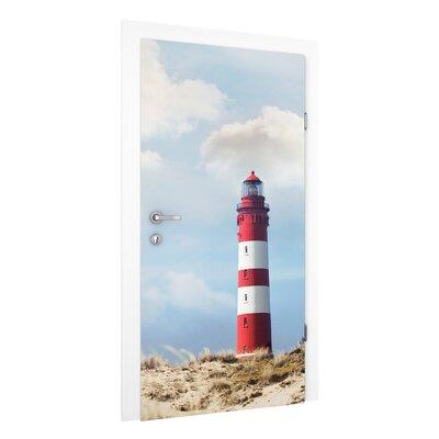 PPS. Imaging GmbH Tapete Leuchtturm in den Dünen 215 cm B cm H x 96 cm B