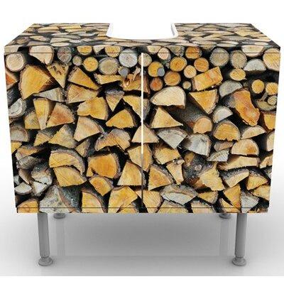 PPS. Imaging GmbH 60 cm Waschbeckenunterschrank Holz Homey Firewood