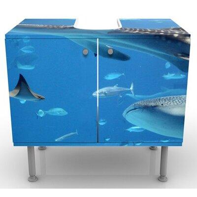 PPS. Imaging GmbH 60 cm Waschbeckenunterschrank Fish in the Sea
