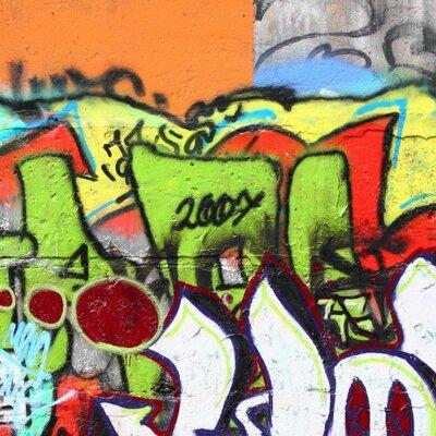 PPS. Imaging GmbH Tapete Graffiti 192 cm H x 192 cm B