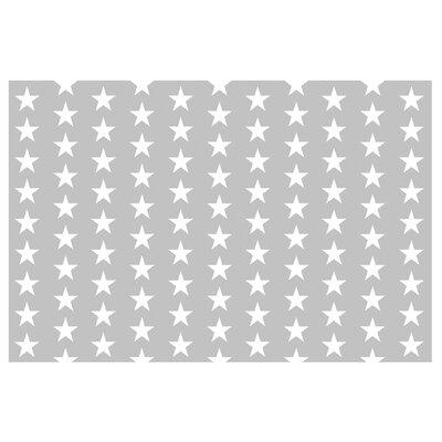 PPS. Imaging GmbH Tapete Weiße Sterne 225 cm H x 336 cm B