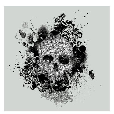 PPS. Imaging GmbH Tapete Skull 192 cm H x 192 cm B