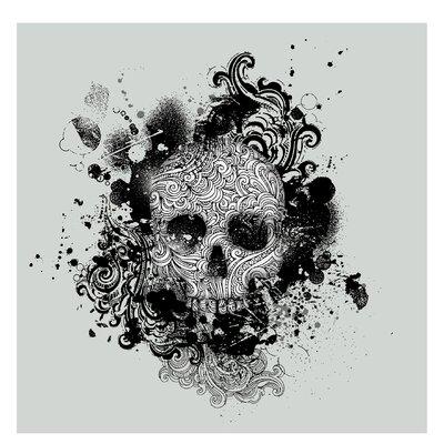 PPS. Imaging GmbH Tapete Skull 240 cm H x 240 cm B