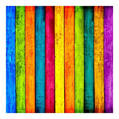 PPS. Imaging GmbH Tapete Colourful Palisade 192 cm H x 192 cm B