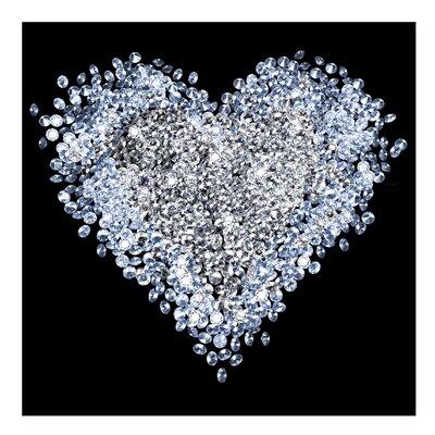 PPS. Imaging GmbH Tapete Diamant Herz 240 cm H x 240 cm B