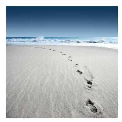 PPS. Imaging GmbH Tapete Spuren im Sand 240 cm H x 240 cm B