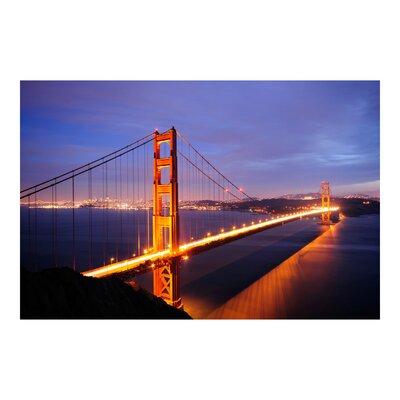 PPS. Imaging GmbH Tapete Golden Gate Bridge bei Nacht 255 cm H x 384 cm B