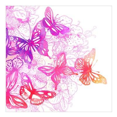 PPS. Imaging GmbH Tapete Schmetterlingstraum 240 cm H x 240 cm B