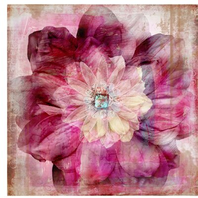 PPS. Imaging GmbH Tapete Grunge Flower 240 cm H x 240 cm B