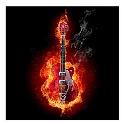 PPS. Imaging GmbH Tapete Kindertapete Gitarre in Flammen 288 cm H x 288 cm B