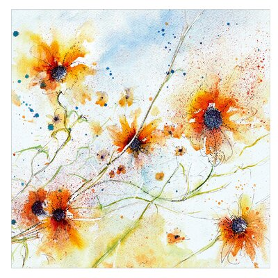 PPS. Imaging GmbH Tapete Painted Flowers 336 cm H x 336 cm B