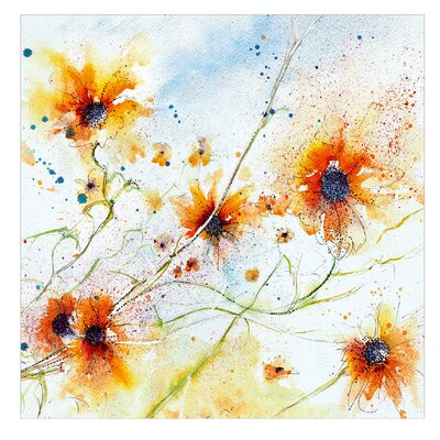 PPS. Imaging GmbH Tapete Painted Flowers 240 cm H x 240 cm B