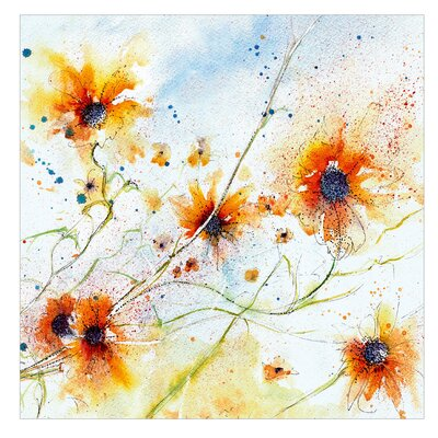 PPS. Imaging GmbH Tapete Painted Flowers cm H x 192 cm B