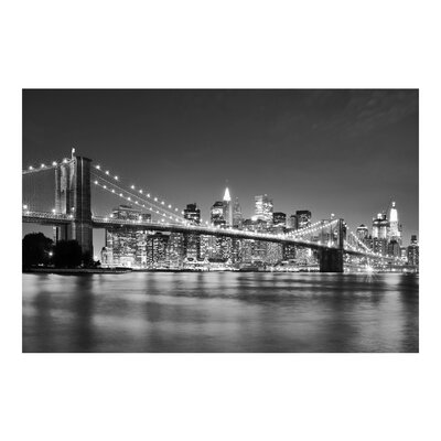 PPS. Imaging GmbH Tapete Nighttime Manhattan Bridge II 255 cm H x 384 cm B