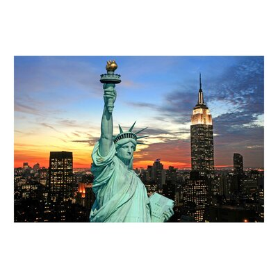 PPS. Imaging GmbH Tapete New York at Night 320 cm H x 480 cm B