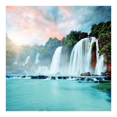 PPS. Imaging GmbH Tapete Wasserfallpanorama 288 cm H x 288 cm B