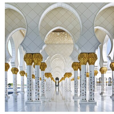 PPS. Imaging GmbH Tapete Moschee in Abu Dhabi 288 cm H x 288 cm B