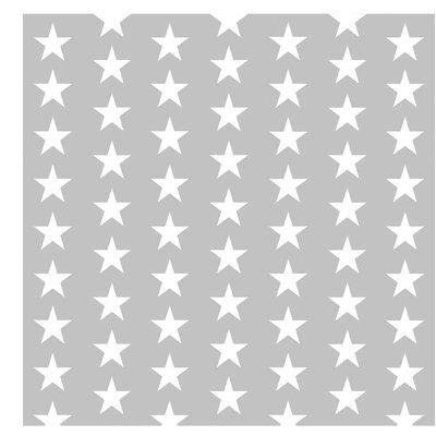 PPS. Imaging GmbH Tapete Weiße Sterne 336 cm H x 336 cm B
