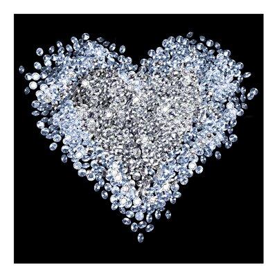PPS. Imaging GmbH Tapete Diamant Herz 288 cm H x 288 cm B