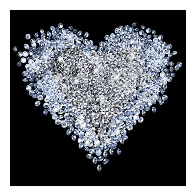 PPS. Imaging GmbH Tapete Diamant Herz 336 cm H x 336 cm B