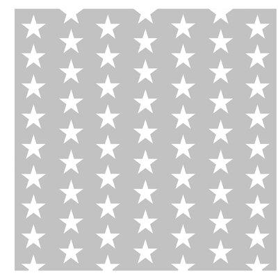 PPS. Imaging GmbH Tapete Weiße Sterne 288 cm H x 288 cm B