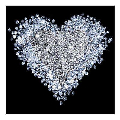 PPS. Imaging GmbH Tapete Diamant Herz 192 cm H x 192 cm B