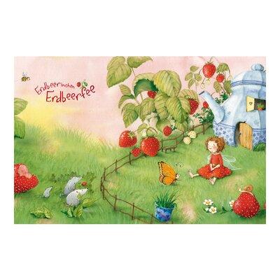 PPS. Imaging GmbH Tapete Erdbeerinchen Erdbeerfee Im Garten 255 cm H x 384 cm B