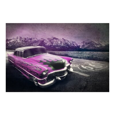 PPS. Imaging GmbH Tapete Route 66 Cadillac 225 cm H x 336 cm B
