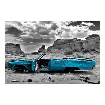 PPS. Imaging GmbH Tapete Türkiser Cadillac 225 cm H x 336 cm B