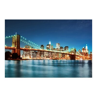 PPS. Imaging GmbH Tapete Nighttime Manhattan Bridge 225 cm H x 336 cm B