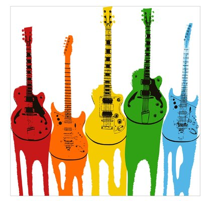 PPS. Imaging GmbH Tapete Retro Guitars 288 cm H x 288 cm B
