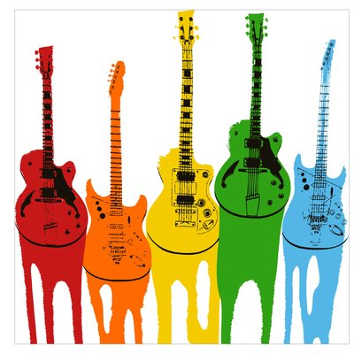 PPS. Imaging GmbH Tapete Retro Guitars 192 cm H x 192 cm B