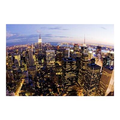 PPS. Imaging GmbH Tapete New York Skyline bei Nacht 255 cm H x 384 cm B