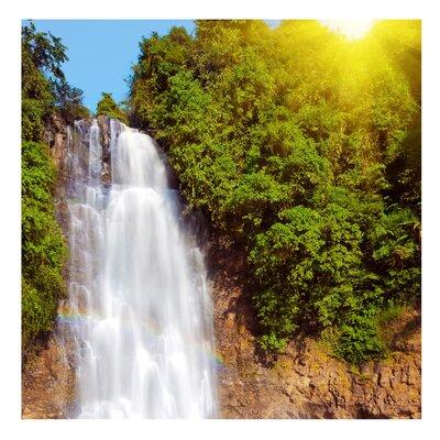 PPS. Imaging GmbH Tapete Wasserfall Romantik 192 cm H x 192 cm B