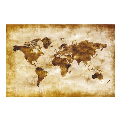 PPS. Imaging GmbH Tapete Map of the World 225 cm H x 336 cm B