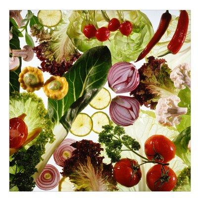 PPS. Imaging GmbH Tapete Luscious Legumes 192 cm H x 192 cm B