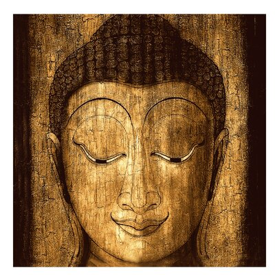 PPS. Imaging GmbH Tapete Smiling Buddha 192 cm H x 192 cm B
