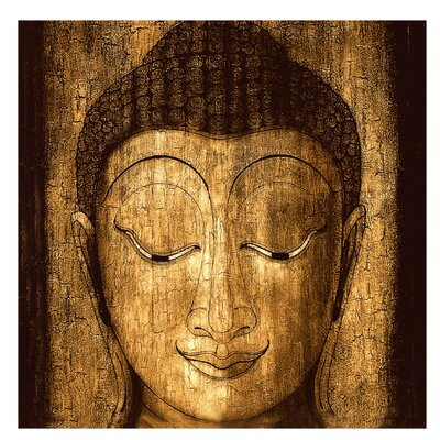 PPS. Imaging GmbH Tapete Smiling Buddha 336 cm H x 336 cm B