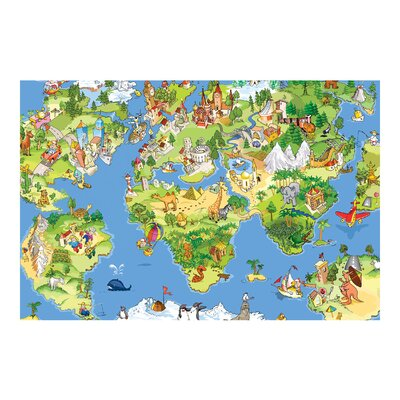 PPS. Imaging GmbH Tapete Kindertapete Great And Funny Worldmap 225 cm H x 336 cm B