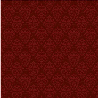 PPS. Imaging GmbH Tapete Roter Französischer Barock 290 cm H x 432 cm B