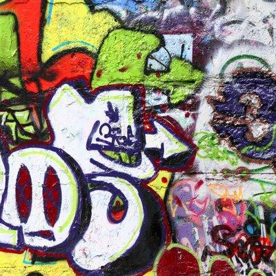 PPS. Imaging GmbH Tapete Graffiti 320 cm H x 480 cm B
