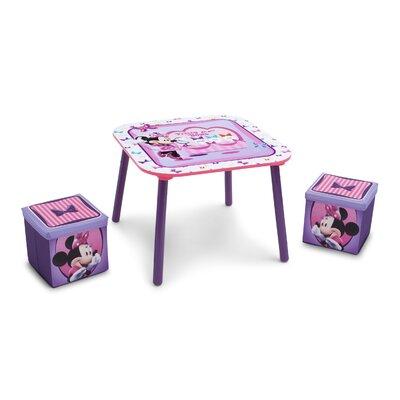 Delta Children 3-tlg. Kinder-Tisch Set Minnie Maus