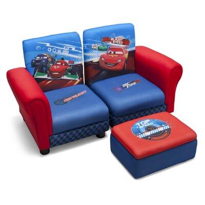 Delta Children 3-tlg. Kinder Sofa-Set mit Ottoman Cars