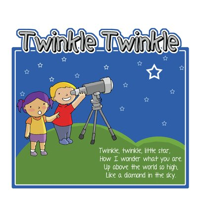 Inspirational Playgrounds Twinkle Twinkle Wall Plaque