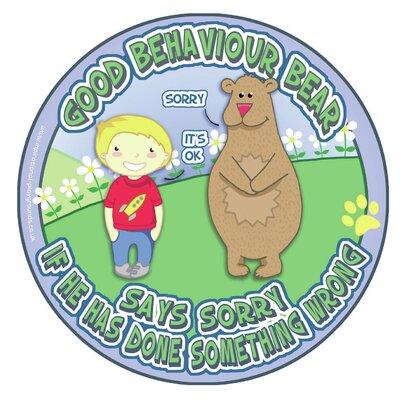 Inspirational Playgrounds Good Behaviour Bear Outdoor B Wall Plaque