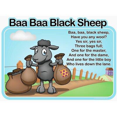 Inspirational Playgrounds Baa Baa Black Sheep Wall Plaque