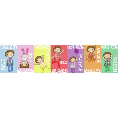 Inspirational Playgrounds Days of the Week Wall Plaque