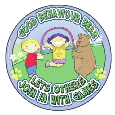 Inspirational Playgrounds Good Behaviour Bear Outdoor D Wall Plaque