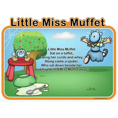 Inspirational Playgrounds Little Miss Muffet Wall Plaque
