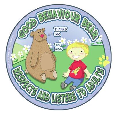 Inspirational Playgrounds Good Behaviour Bear Outdoor E Wall Plaque
